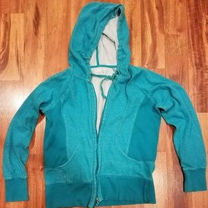 Women's Maurices turquoise full zip hoodie